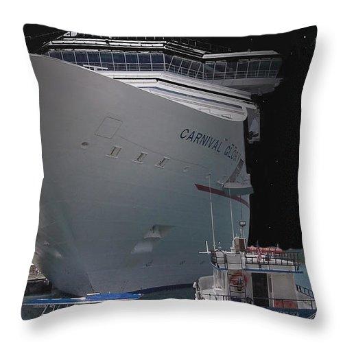 Carnival Throw Pillow featuring the mixed media Carnival Glory USVI by Robert aka Bobby Ray Howle