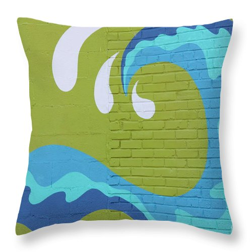 Throw Pillow featuring the photograph Carolina Wave by Bev Veals