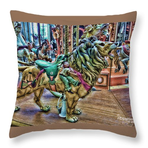 Tn Throw Pillow featuring the photograph Carousel Color by Ericamaxine Price