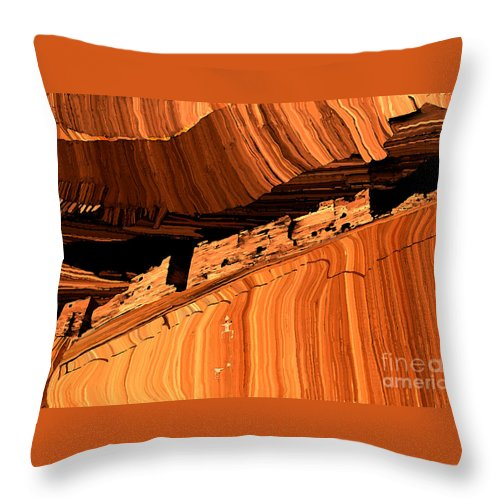 Ruins Throw Pillow featuring the painting Casa Blanca by Jerry McElroy