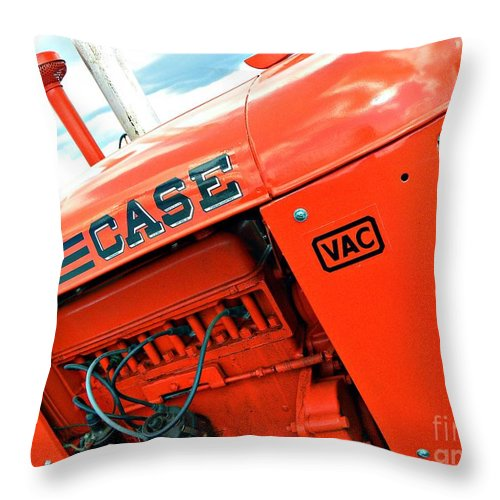 Case Tractor Throw Pillow featuring the photograph Case by Tisha Clinkenbeard