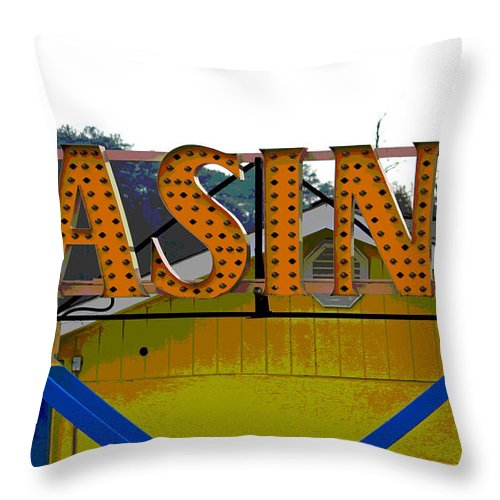 Casino Throw Pillow featuring the photograph Casino by Suzanne Gaff