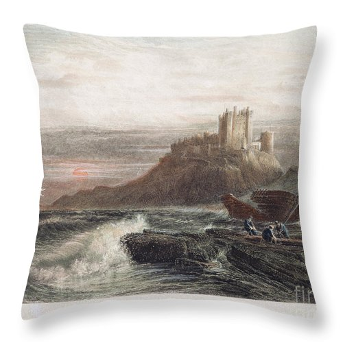 19th Century Throw Pillow featuring the photograph Castle: England, 19th C by Granger