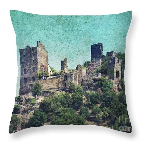 Castle Liebenstein Throw Pillow featuring the photograph Castle Liebenstein by Angela Doelling AD DESIGN Photo and PhotoArt