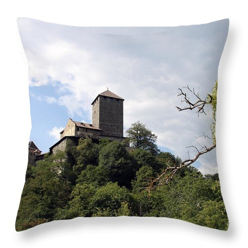 Castle Throw Pillow featuring the photograph Castle Tirol by Christiane Schulze Art And Photography