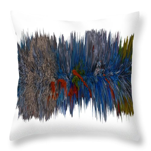 Digital Art Digital Art Throw Pillow featuring the digital art Cat Hair Ball by Robert Margetts