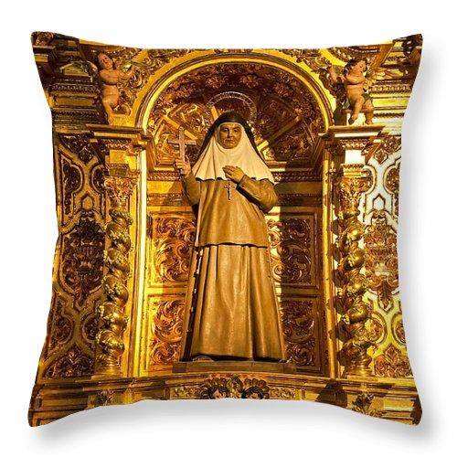 Cathedral De La Almudena Throw Pillow featuring the photograph Cathedral De La Almudena by John Greim