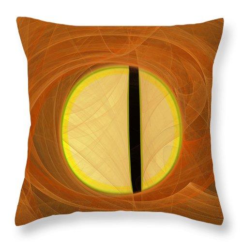 Digital Throw Pillow featuring the digital art Cat's Eye by Victoria Harrington