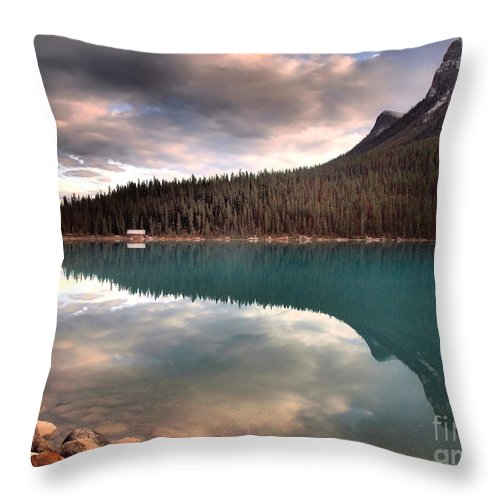 Mountains Throw Pillow featuring the photograph Caught In Reflections by Tara Turner