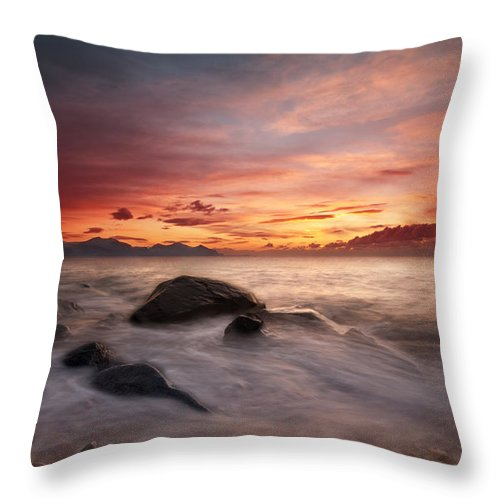 Wales Throw Pillow featuring the photograph Celtic Sunset by Beverly Cash