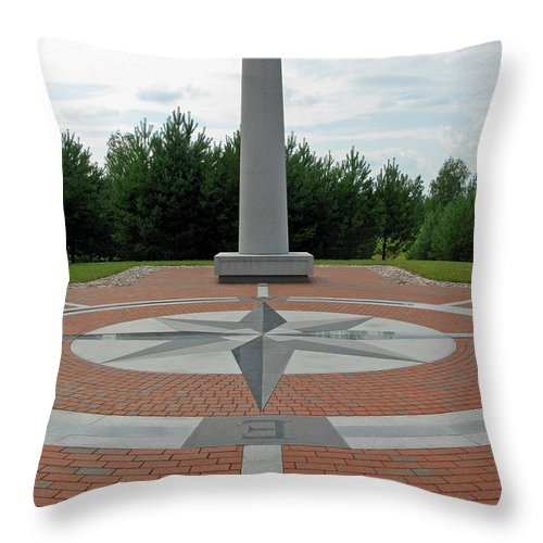 Centre Throw Pillow featuring the photograph Center Of Europe. Lithuania by Ausra Huntington nee Paulauskaite