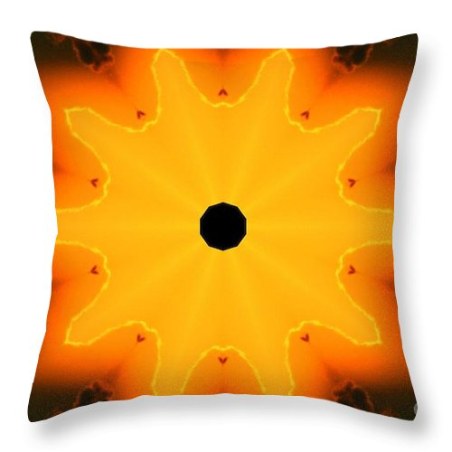 Kaleidoscope Image Throw Pillow featuring the digital art Center Of The Universe by Tommy Anderson