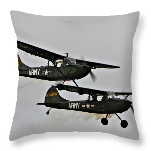 Cessna Throw Pillow featuring the photograph Cessna Bird Dog O-1el-19 by Tommy Anderson