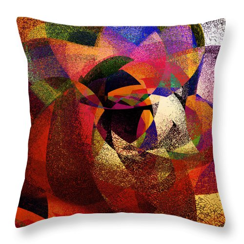Abstract Throw Pillow featuring the digital art Chalk Face by Grant Wilson
