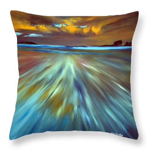 Seascape Throw Pillow featuring the painting Changing Tides by Jennifer Hickman
