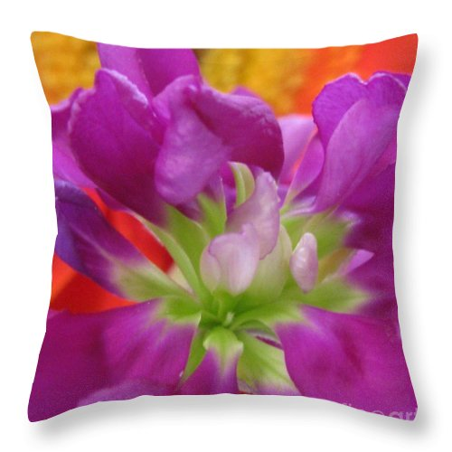Flower Throw Pillow featuring the photograph Charitable by Tina Marie