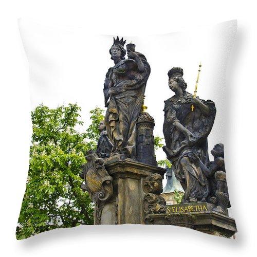 Prague Throw Pillow featuring the photograph Charles Bridge - Prague by Jon Berghoff