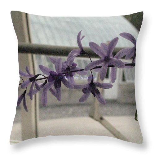 Violet Orchid Throw Pillow featuring the photograph Charming Orchid by Sonali Gangane