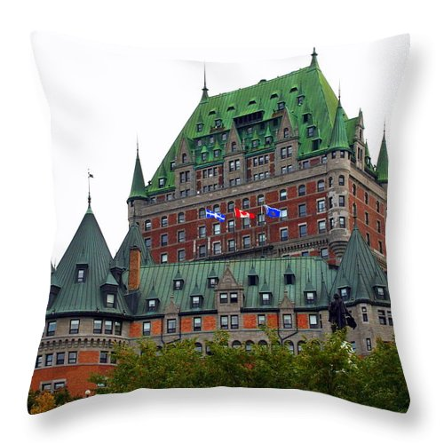 Chateau Frontenac Throw Pillow featuring the photograph Chateau Frontenac by Laurel Talabere