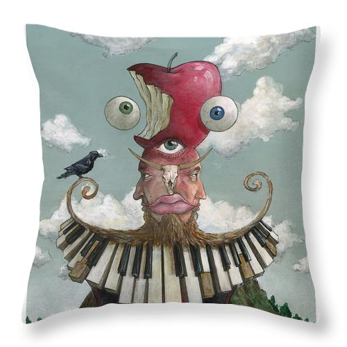 Throw Pillow featuring the painting Chatty by Richardson Comly