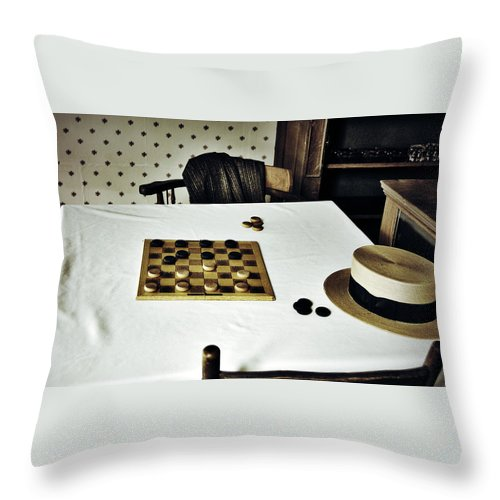 Street Photography Photographs Framed Prints Photographs Framed Prints Throw Pillow featuring the photograph Check Mate by The Artist Project
