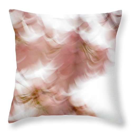 Abstract Throw Pillow featuring the photograph Cherry abstract by Rrrose Pix