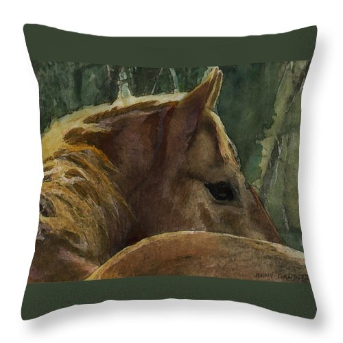 Painting Throw Pillow featuring the painting Chestnut Dreams by Jenny Gandert