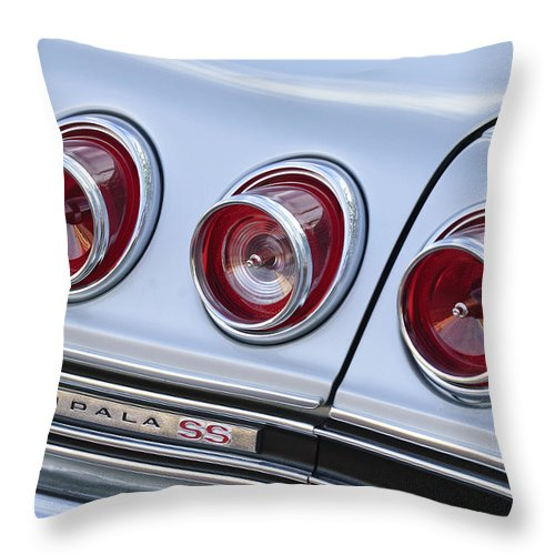 Chevrolet Impala Ss Throw Pillow featuring the photograph Chevrolet Impala Ss Taillight by Jill Reger