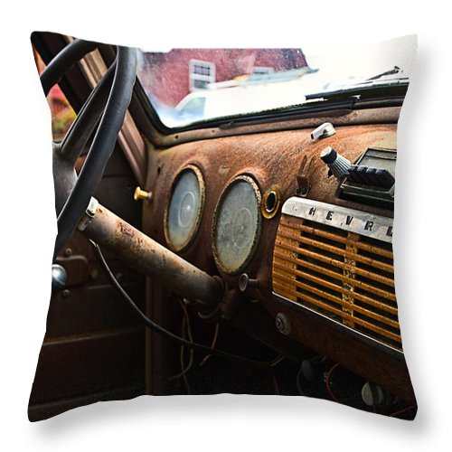 Automobile Throw Pillow featuring the photograph Chevrolet by Susan Leggett