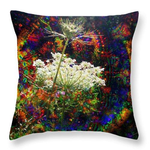 Dreamy Throw Pillow featuring the digital art Childhood Dreams by Robert Orinski