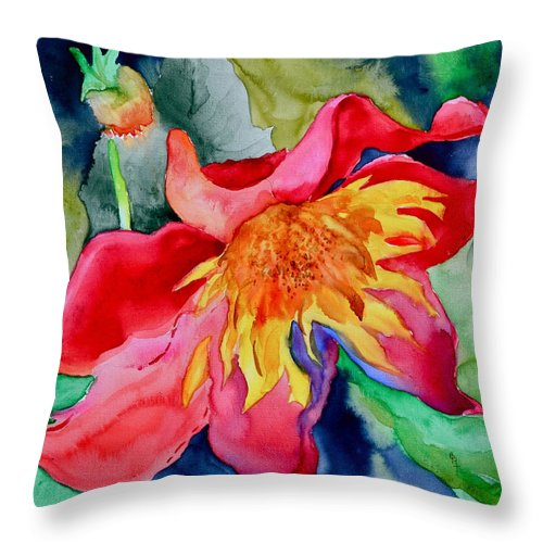 Dahlia Throw Pillow featuring the painting Chimborazo by Beverley Harper Tinsley