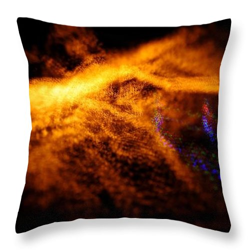Throw Pillow featuring the photograph Christmas Abstract Lights by Mark Valentine
