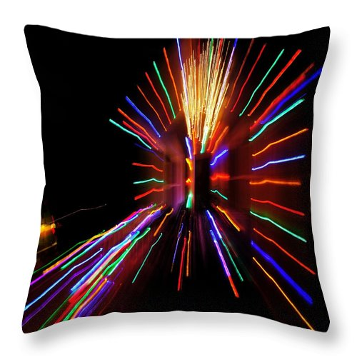 Throw Pillow featuring the photograph Christmas House Lights by Mark Valentine