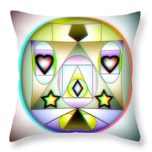 Brian Wallace Throw Pillow featuring the digital art Christmas Tree - Red And Cyan 3d Glasses Required by Brian Wallace