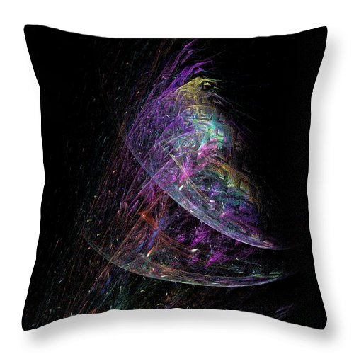 Abstract Throw Pillow featuring the digital art Christmas Tree 29e by Russell Kightley