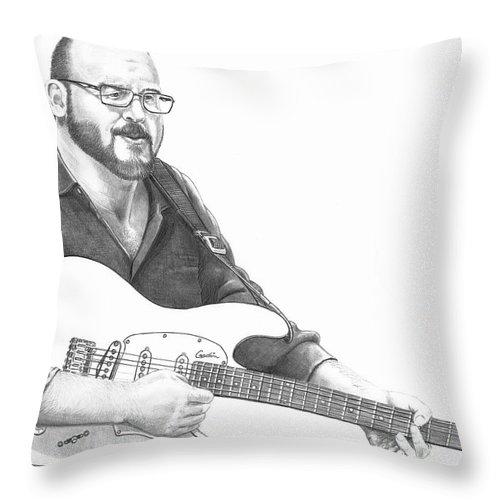 Pencil Throw Pillow featuring the drawing Christopher Murphy Elliott by Murphy Elliott