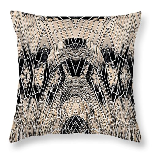 Absract Throw Pillow featuring the digital art Chrome by Tim Allen