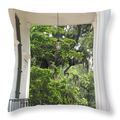 Church Throw Pillow featuring the photograph Church Entrance by Michele Nelson