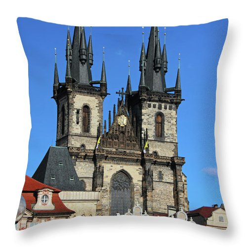 Church Throw Pillow featuring the photograph Church Of Our Lady Before Tyn by Mariola Bitner