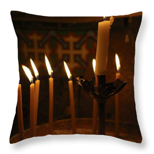 Psi Throw Pillow featuring the photograph Church Of The Holy Sepulchre Jerusalem by Shay Levy