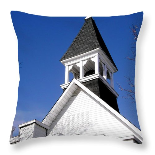 Church Throw Pillow featuring the photograph Church Steeple by Stephanie Moore