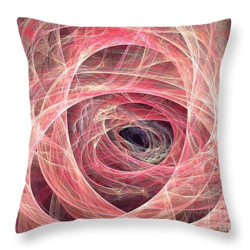 Apophysis Throw Pillow featuring the digital art Circinus by Kim Sy Ok