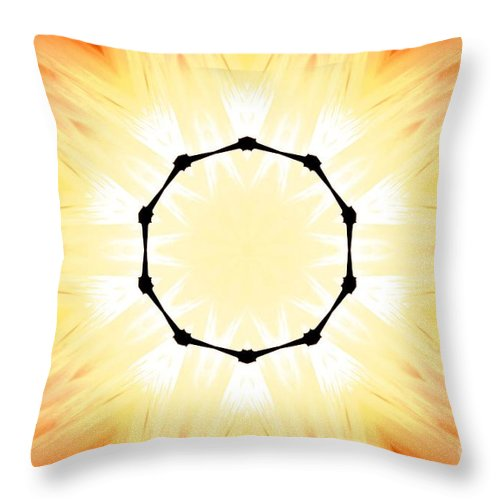 Digital Art Throw Pillow featuring the digital art Circle Of Light by Tommy Anderson