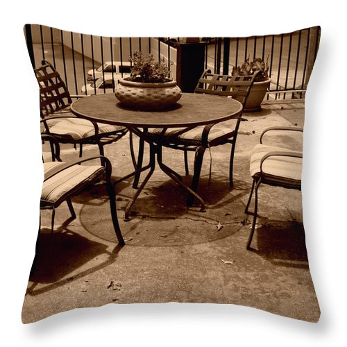 Circle Throw Pillow featuring the photograph Circles Lines And Squares by Nina Fosdick