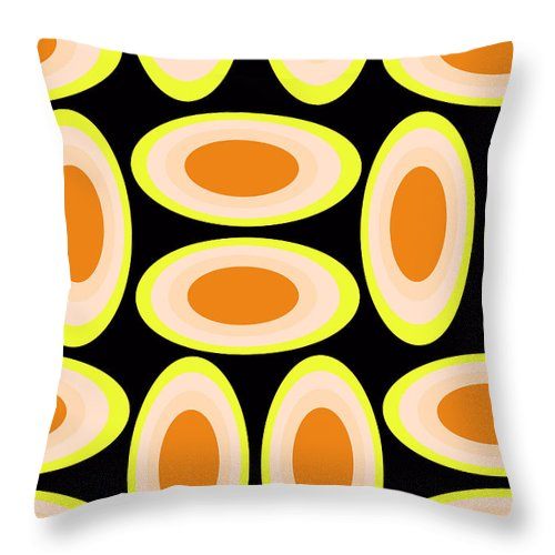 Louisa Throw Pillow featuring the digital art Circles by Louisa Knight