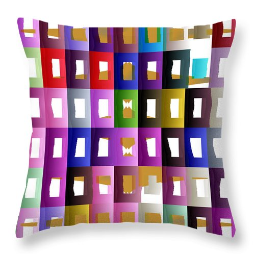Ebsq Throw Pillow featuring the digital art City Life by Dee Flouton