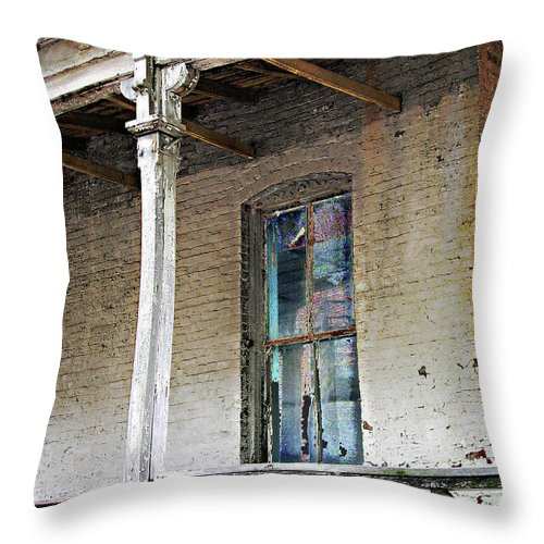 Civil Throw Pillow featuring the photograph Civil War Hospital Memphis by Lizi Beard-Ward