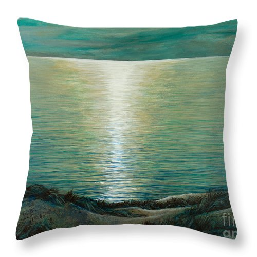 Claire De Lune Throw Pillow featuring the painting Claire De Lune by Marc Dmytryshyn