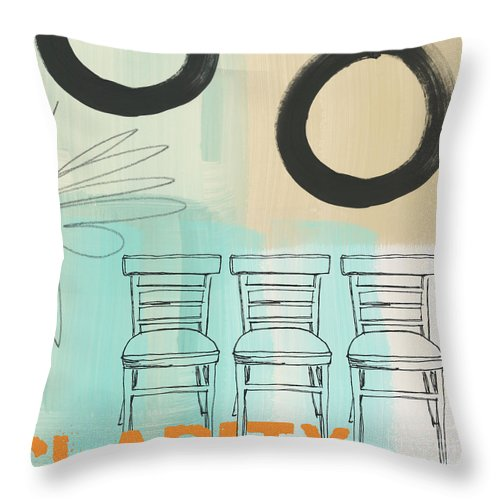 Abstract Throw Pillow featuring the painting Clarity by Linda Woods