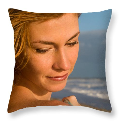 Amy Forman Throw Pillow featuring the photograph Classic Beauty by Robert Swinson